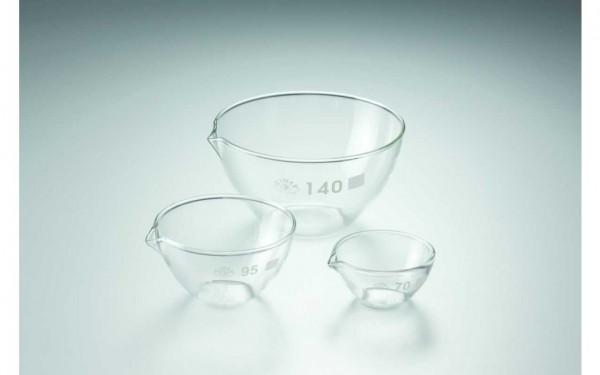 Abdampfschalen, Borosilikatglas