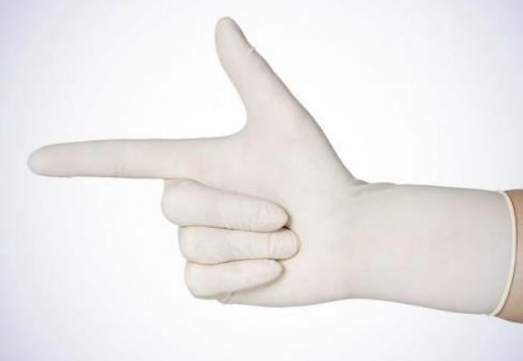 Einmalhandschuhe aus Latex, puderfrei
