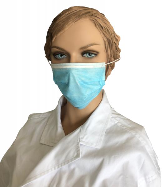 Mund-/Nasenschutzmasken, 3-lagig (50er Pack)